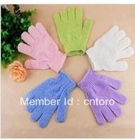 Free shipping Exfoliating Face or Body Bath mitt Scrub Moisturizing gloves bath massage glove dropship