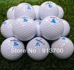 Factory direct sale Couga quality goods golf two piece ball practice game golf ball(China (Mainland))