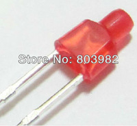 Flat top 2MM led bulb RED Electrical indicator DIFFUSED DIP LED 1.7-2.2V(CE&Rosh)