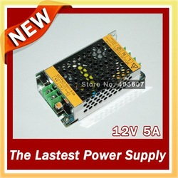 2pcs New Style 60W LED Power Supply for 3528 5050 Led Strip 12V 5A LED transformer for led strip! Free Shipping(China (Mainland))