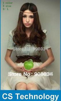 [C73] 2013 Free Shipping New Fashion Vintage Dress OL Office Ladies Cute Casual Clothes Women Denim Spliced Chiffon dresses