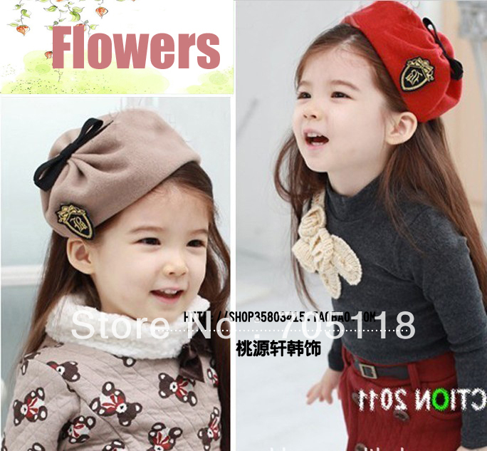 2013Newest Baby Girl hair bands beret headband Cute hat headwear free shipping(China (Mainland))