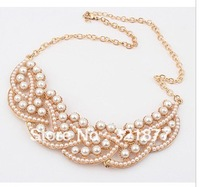 free shipping Sweet elegant temperament luxury pearl short necklace