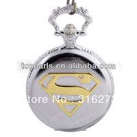 Topearl Jewelry Superman Pocket Quartz Watch Silvery Tone LPW101