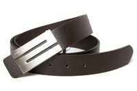 Free Shipping, We Best, 2013 New Fashion Design Men's Belt, PU & Cowskin Strap With Metal Buckle, 3 Colors, Drop Shipping, B463