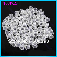 100 pcs/pack 13mm Medium Tattoo Ink Cups Plastic Caps Supplies Free Shipping