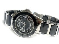 Melissa melissa mathison table black ceramic women's watch fashion ceramic ladies watch crystal table