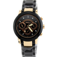 Melissa melissa mathison lady black resin ceramic function fashion women's function watch