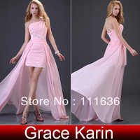 Valentine's day gift!Sexy Stock One Shoulder Chiffon Party Gown Prom Ball Evening Dress 8 Size CL3828
