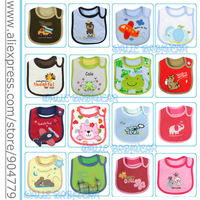 (50pcs/lot)Hotsale baby bibs infant cotton saliva towels/carter's waterproof bibs mixed styles baby wear Free shipping