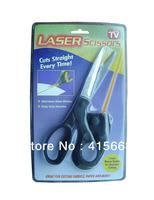 Sewing Fabric Laser Scissors Laser Guided Scissors Cut Straight Fast  5pcs/lot