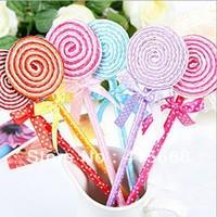 Creative stationery children gift fashion new sweet design cute lollipop ballpoint pen  50pcs/lot