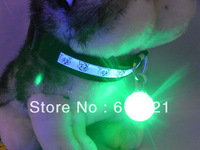Pet Dog Cat Led Pendant ID Tag Safety Light Glow Light Up Collar Flasher Blinker Keychain V3776
