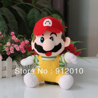 Free Shipping  Hot Sale 7 Inches(18cm) 12pcs/lot Cute Super Mario Great Children Plush Toy with Sucker for Kids's gift Soft Toy