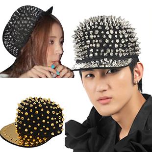 new women fashion punk style bling snapback flat brim hip hop silver gold sequin hat trucker spike baseball cap hockey for men(China (Mainland))