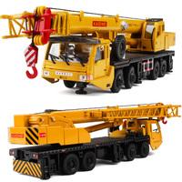 Toy car alloy construction crane model heavy duty 8 wheel mainest rotating tensile toys