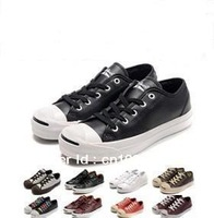 2013 Canvas shoes bovine cortical smile thick black shoes