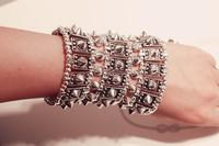 Free Shipping 2013 New Arrivals elastic spike Bangles Hot Wholesale spike jewelry bracelet  punk fashion