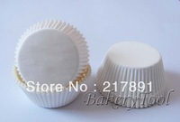 White plain color CUPCAKE LINERS, mini Muffin paper Cases, Baking Cups with 40grm Greaseproof Paper food standard using with FDA