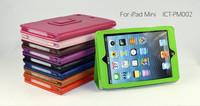MOQ:1pcs, High Quality Lichi line Leather Case For apple ipad mini, HK/China Post Free Shipping, C0057