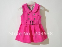 2012 New Autumn Clothing Clothes Set For Baby Girls ,Baby Girl Clothing Set Dress Pink and Apricot