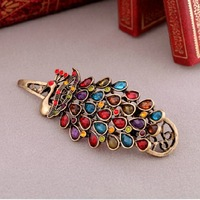 H047T Fashion vintage accessories gem peacock hair accessory hairpin TN-9.99
