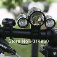 3x CREE 2400 Lumens XM-L T6 LED +2x XPE R2 LED Bike Bicycle Light 3 Mode Bike Front Light 6400mAh Free Shipping