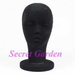 Female Foam Mannequin Head For Hat Black TVN-LJD03(China (Mainland))