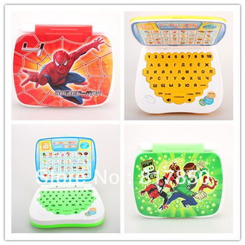 Best selling!! Children laptop computer Learning Russian machine Kids Funny Machine educational toy Free shipping,1 pcs