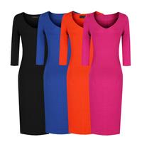 Autumn and winter fashion normic slim basic all-match 7 slim hip plus size ol pencil skirt fashion one-piece dress