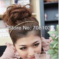 Free shipping MIQ$10 Leopard headband Fashion Glitter headband Alice band Hair Band Ring Rope Headwear Coiffure QB0156