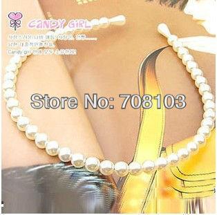 Free shipping MIQ$10 pearl headband Fashion Glitter headband Alice band Hair Band Ring Rope Headwear Coiffure QB0160