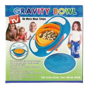 3pcs/lot Baby Gravity Bowl Spill Resistant Kids/Children Snack Food Dish+Lid No Mess Dishwasher 670040