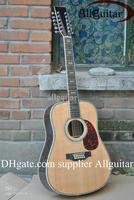 12 strings acoustic guitar AAA Solid spruce Top ebony fingerboard /ebony bridge Abalone Binding Body