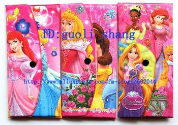New! wholesales 12 pcs/lot  girl's love Princess  Cartoon wallet Gift purse fashion notecase Free shipping w10