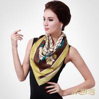 Slanting stripe mulberry silk cape scarf, 85*85 square beautiful fashion comfortable twill silk scarves