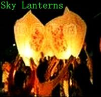 653-E  Sky Lanterns Wishing lamp lotus lamp water lamp sky lantern festival of the Sky Lanterns