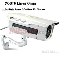 CCTV 700TV Line 1/3 SONY Exview CCD OSD 6mm Lens IR Outdoor Ip66 Waterproof Camer IR Distance 35-45m