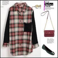 Женская футболка Punk rose rivet stripe gauze pads women tshirts