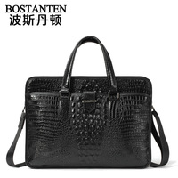 BOSTANTEN Portable men's Cowhide bag handbag business genuine leather cross-body shoulder bag briefcase b10483
