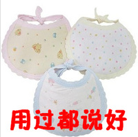 Thickening 100% cotton baby bib baby bib small bibs absorbent breathable