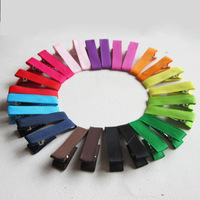 Baby Girl Colorful Hair Clips Hair Accessories Headwear Ribbon Single Hair Clips 13 Color  CTCL003
