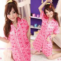 Free Shipping 2012 female hot-selling shirt style princess nightgown sleepwear 0508 quality guarantee