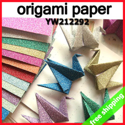 FREE SHIPPING origami Thousand Paper Cranes heart folded sparkle romantic valentine promotion gift say hi 380pc/lot YW 212292(China (Mainland))