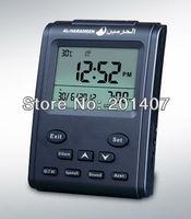 20pcs /lots Complete azan for all prayers  times  clock Qibla direction Hijri and Gregorian calendars Table Azan Clock