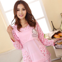 Spring and autumn plus size plus size maternity sleepwear cotton women clothing long-sleeve nursing sleepwear lounge nursing