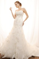 Yarn lily lace wedding dress fashion wedding dress fish tail luxurious