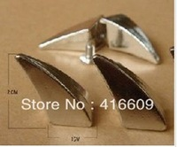 10*20mm 50pcs Silver Horn Rivet Spikes Stud Punk Bag Belt Leathercraft Accessories DIY Free Shipping
