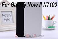 New 3600mah backup external backup battery Flipleather case for Sumsung Galaxy Note 2 II N7100,Free shipping