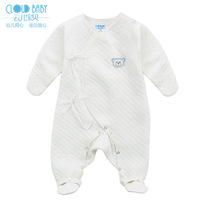Baby autumn and winter children's clothing 100% cotton baby one piece romper socks cotton-padded baby clothes baby